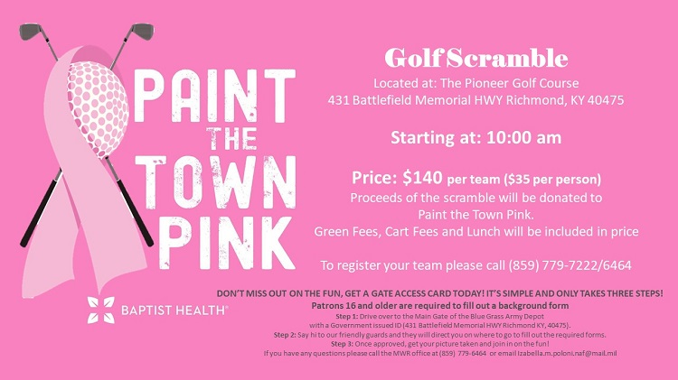 Paint the Town Pink Golf Scramble