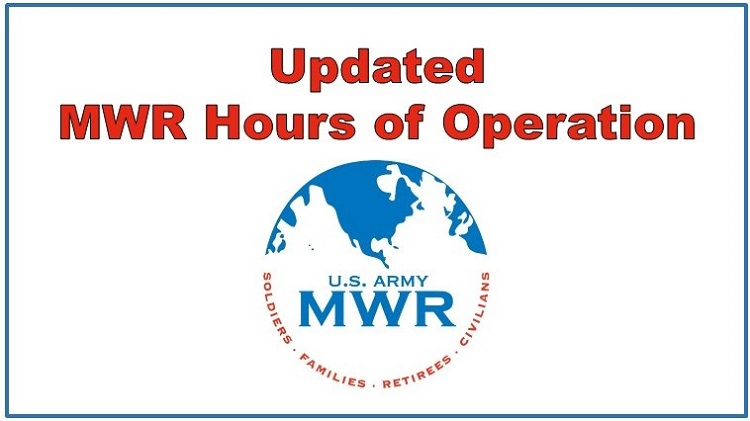 Updated MWR Hours of Operation